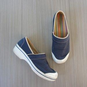 Dansko Vesta Blue Vegan Clog Shoes
